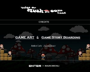 Game Credits Screen